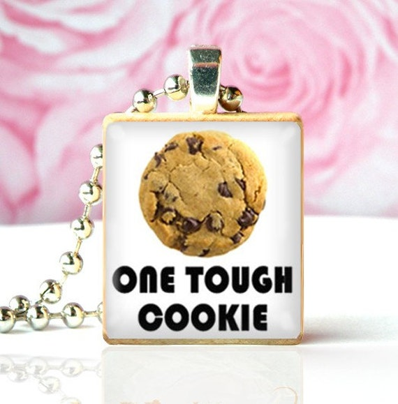 ONE TOUGH COOKIE - Scrabble Tile Pendant