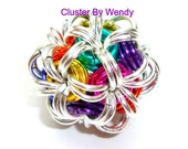Instructional PLUS Kit for making ONE Colorful Chainmaille Cluster