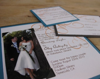 Modern Square Wedding Invitation Suite