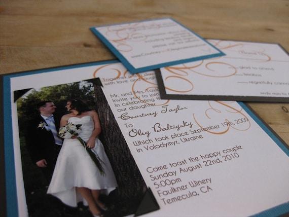Modern Square Wedding Invitation Suite