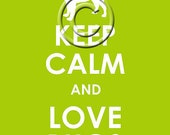 Keep Calm and Love Pugs archival print