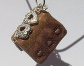 Book Pendant - For it was not into my ear you whispered, but into my heart - Heart - OOAK