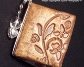 Book Pendant - A friend is one who bails you out of jail - OOAK - For your BFF