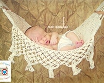 Newborn Baby Hammock Photo Prop, Mini Me Au Natural, Newborn Photography Prop, Boy, Girl, Yarn, Props, Toy Hammock, Custom Props