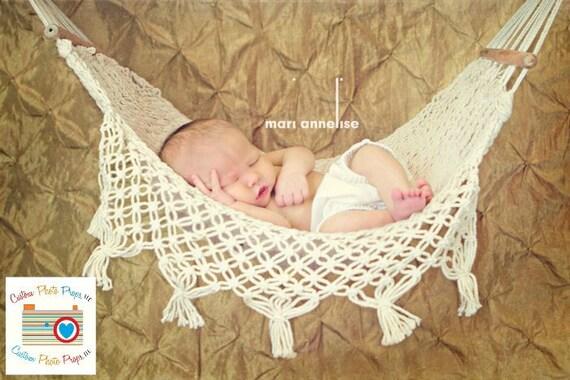 Newborn Baby Hammock Photo Prop, Mini Me Au Natural, Newborn Photography Prop, Boy, Girl, Yarn, Props, Toy Hammock, Custom Props