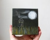 night house / original painting on canvas