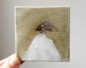 white mountain / original painting on canvas
