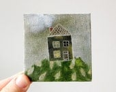 pinecone cottage / original painting on canvas