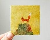 sunshine and moss / original painting on canvas