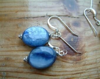 kyanite silver earrings