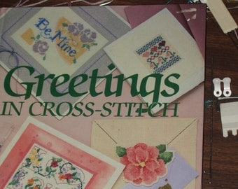 Greetings in Cross-Stitch The Vanessa-Ann Collection,Oxmoor House 1988