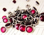 24 Burgundy Cowgirl Snaps Pearl Prong Western Snaps