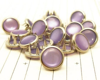 24 Lavender Cowgirl Snaps Pearl Prong Western Snaps