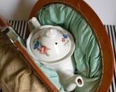 Vintage TEATIME teapot and cozy set