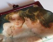 Vintage CUPID print purse