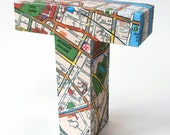 Dublin map - customized one-of-a-kind paper sculpture made-to-order