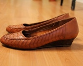 Brown Woven Shoes