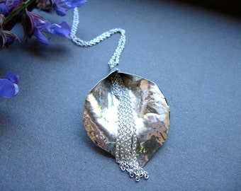 Waterfall Lily Pendant Necklace in sterling silver - N055