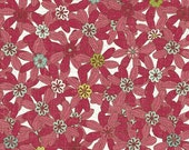 Paper Dolls Packed Daisies in Raspberry by Studio E - 1 Yard
