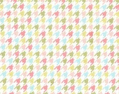 Bella Butterfly Happy Houndstooth in Multi by Patty Sloniger for Michael Miller - 1 Yard