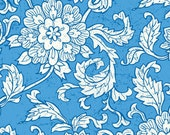 Vintage Summer Gardenias in Blue by Little Yellow Bicycle for Blend Fabrics - Last Yarf