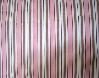 Sale Peek-a-Boo Stripe in Pink by South Sea Imports - 1 Yard