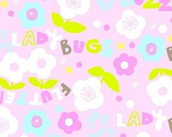 Scribbles Garden Sounds in Pink by Foliage for Windham Fabrics - 1 Yard