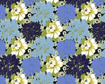 Ashleigh's Garden Floral in Blue by Studio E - 1 Yard