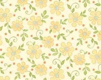Sanibel Flowers and Dots in Ivory by Henry Glass - 1 Yard