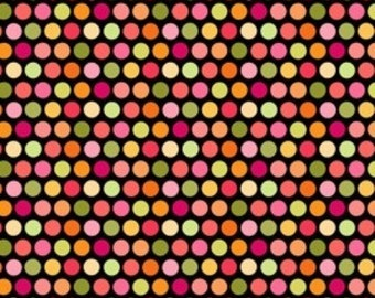 Fun Flowers Bikini Dots in Black by Lakehouse Dry Goods - 1 Yard