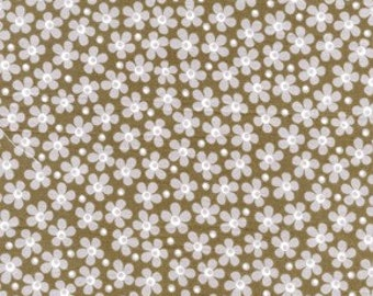 Wild World Flower Child in Stone by Jenean Morrison for Free Spirit - 1 Yard