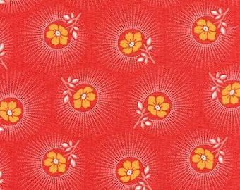 Deer Valley Floral Drop in Persimmon by Joel Dewberry for Free Spirit - Last Yard