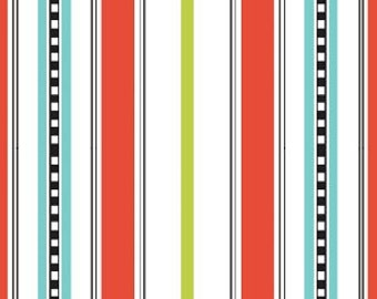 Summertime Stripes in Red by Barbara Jones for Henry Glass - 1 Yard (Buy More & Save)