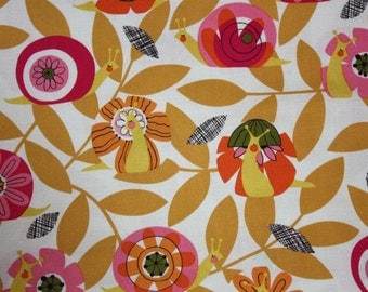 In the Kitchen Barclay Snails in Fuchsia by Alexander Henry - 1 Yard