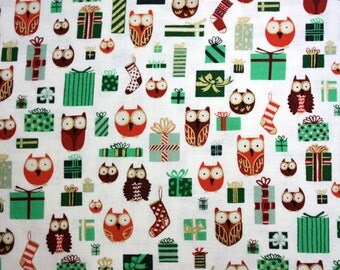 Holiday Hoot and Loot in Tint by Alexander Henry - 1 Yard