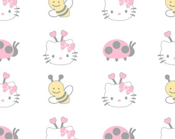 Hello Kitty Bees and Ladybugs by David Textiles - 1 Yard