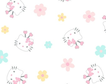Hello Kitty Flowers by David Textiles - 1 Yard