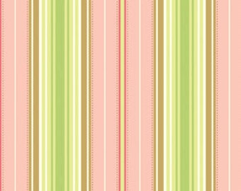 Freshcut Lounge Stripe in Peachy by Heather Bailey for Free Spirit - 1 Yard