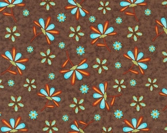 Finally Free Tossed Floral in Retro by Caroline Simas for Robert Kaufman - 1 Yard