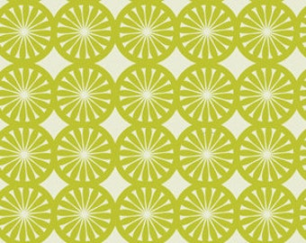 Kitchy Kitchen Wedge Geo in Green by Maude Asbury for Blend Fabrics - last yard
