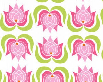 Lush Modern Lotus in Pink by Patty Young for Michael Miller - Last Yard