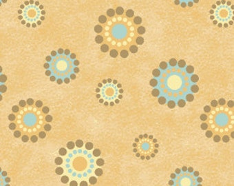 Down Under Dottie Circles in Tan by Simply Shelly Designs for Henry Glass - 1 Yard