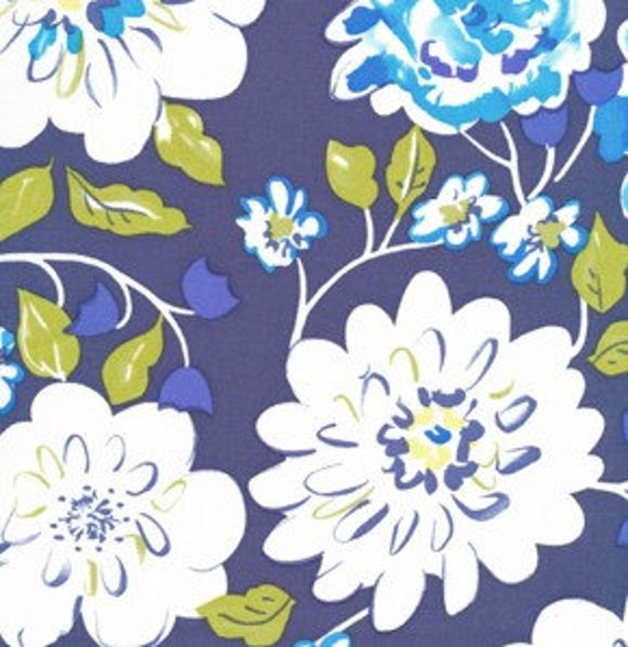 Tea Garden Ying Ming in Navy by Dena Designs for Free Spirit - 2 Yards 15 Inches