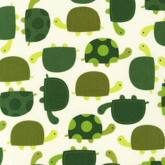 Urban Zoologie Turtles in Grass by Ann Kelle for Robert Kaufman - 1.5 Yards birdwatcherok