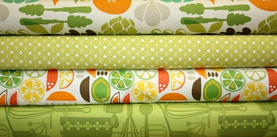 Kitchy Kitchen by Maude Asbury for Blend Fabrics - 4 Fat Quarter Bundle - Last Set