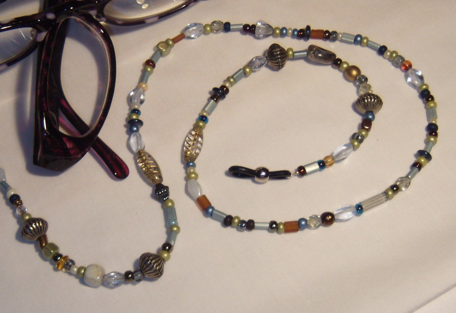 beaded eyeglass chain is made with unique eyeglass