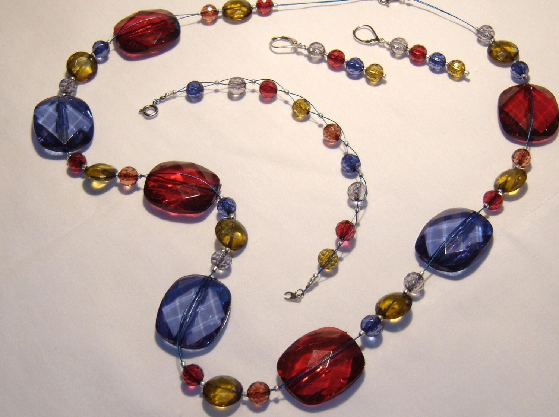 bold chunky jewelry set necklace bracelet earrings