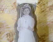 Her Faith Would be Her Rock, altered art doll, stuffed fabric muslin doll