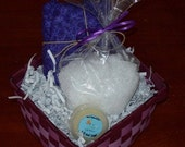 Small Lavender Gift Basket