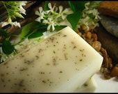 MOONLIGHT on THE GROVE - Floral Jasmine Scented Soap with Rubbed Sage Leaf and Shea Butter - Vegan